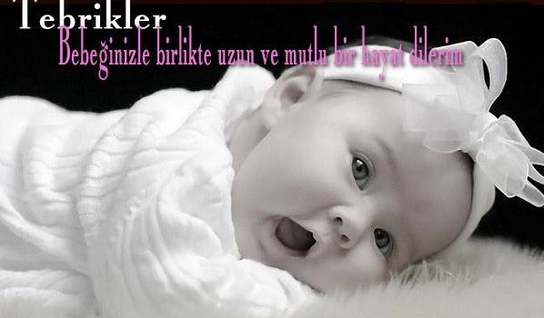 bebeğe tebrik mesajı