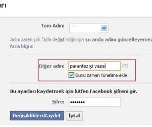 facebook parantez içi yazı yazma