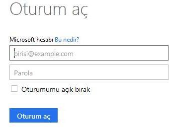 Hotmail Türkçe Oturum Aç »